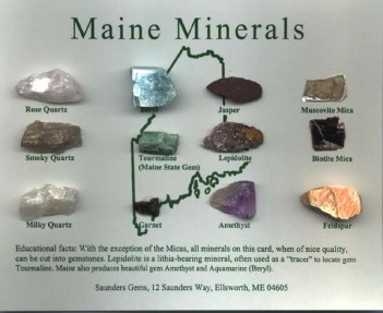 Maine Minerals box